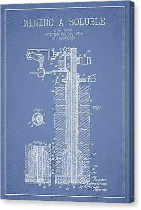 Machinery Canvas Print - 1935 Mining A Soluble Patent En39_lb by Aged Pixel