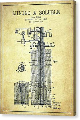 Machinery Canvas Print - 1935 Mining A Soluble Patent En39_vn by Aged Pixel