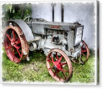 1935 Vintage Case Tractor Canvas Print by Edward Fielding