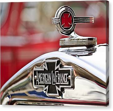 1936 American Lafrance Fire Truck Hood Ornament Canvas Print by Jill Reger