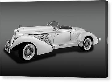 Canvas Print featuring the photograph 1936 Auburn Supercharged Speedster Convertible  -  1936auburnsupcgdspeedfa170552 by Frank J Benz