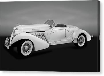 Canvas Print featuring the photograph 1936 Auburn Supercharged Speedster Convertible  -  1936auburnsuperchargedgry170552 by Frank J Benz