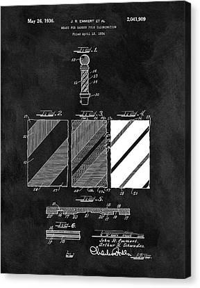 1936 Barber Pole Blueprint Canvas Print by Dan Sproul