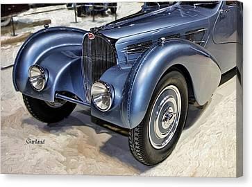 1936 Bugatti Front View. Canvas Print