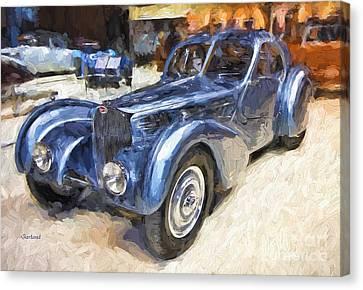 1936 Bugatti Impasto Painting.  Canvas Print
