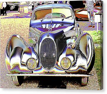 1936 Bugatti T57 Paul Nee Pillarless Coupe  Canvas Print