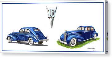 1936 Cadillac Aerodynamic Coupe Canvas Print by Jack Pumphrey