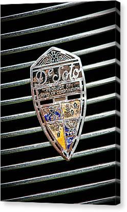 1936 Desoto Airstream Emblem Canvas Print