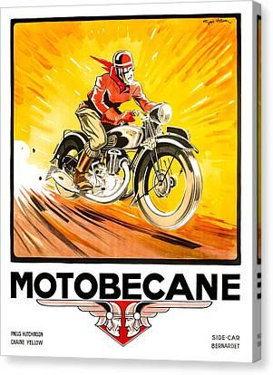 1936 Geo Ham Motobecane Motorcycle Poster Canvas Print by Retro Graphics