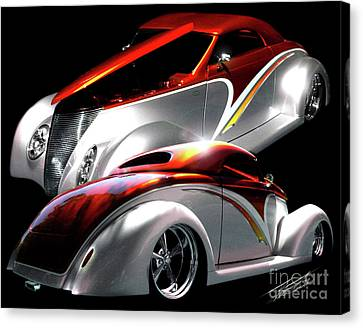 1936 Striped Coupe Canvas Print by Peter Piatt