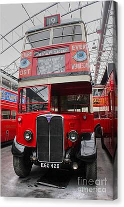 1937 Aec Regent I Bus Stl2377 Canvas Print