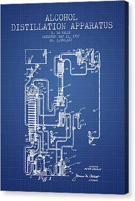 1937 Alcohol Distillation Apparatus Patent Fb79_bp Canvas Print by Aged Pixel