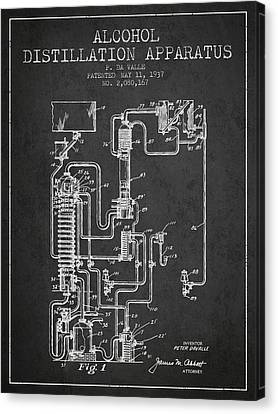 1937 Alcohol Distillation Apparatus Patent Fb79_cg Canvas Print by Aged Pixel