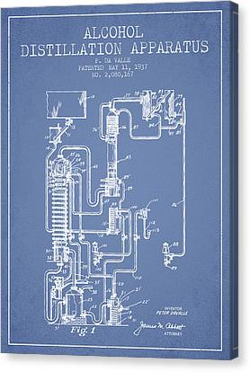 1937 Alcohol Distillation Apparatus Patent Fb79_lb Canvas Print by Aged Pixel
