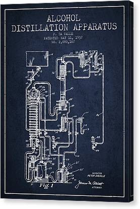 1937 Alcohol Distillation Apparatus Patent Fb79_nb Canvas Print by Aged Pixel