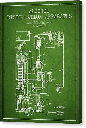 1937 Alcohol Distillation Apparatus Patent Fb79_pg Canvas Print by Aged Pixel