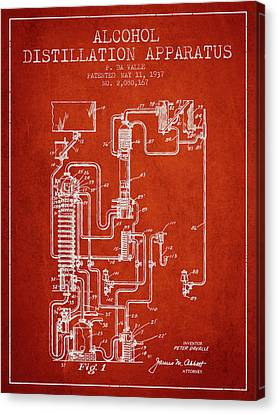 1937 Alcohol Distillation Apparatus Patent Fb79_vr Canvas Print by Aged Pixel