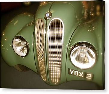 Canvas Print featuring the photograph 1937 Bmw 328 Front Detail by John Colley