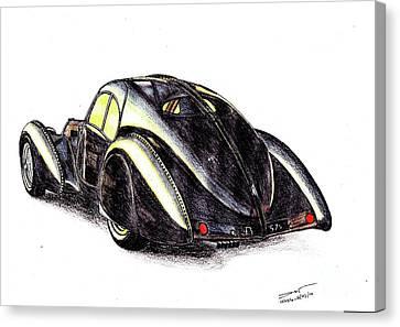 1937 Bugatti Type 57s Canvas Print by Dan Poll