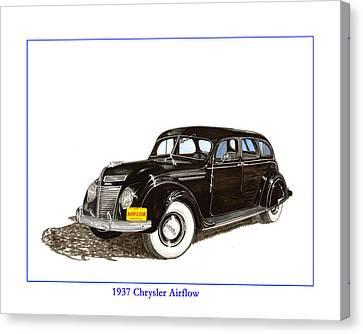 1937 Chrysler Airflow  Canvas Print