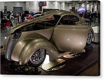 Canvas Print featuring the photograph 1937 Ford Coupe by Randy Scherkenbach