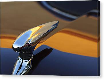 1937 Ford Hood Ornament 3 Canvas Print by Jill Reger