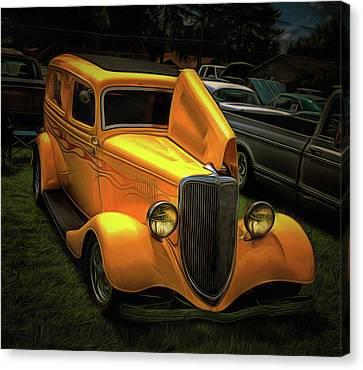 1937 Ford Panel  Canvas Print by Thom Zehrfeld