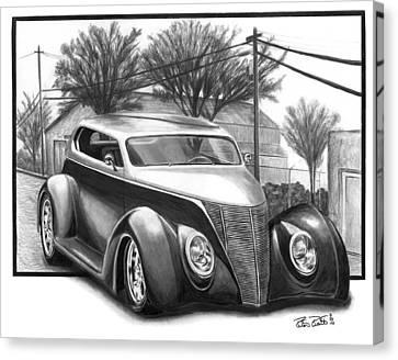 1937 Ford Sedan Canvas Print by Peter Piatt
