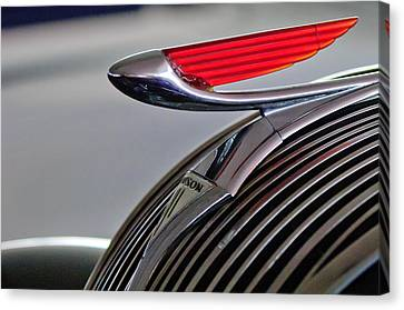 1937 Hudson Terraplane Sedan Hood Ornament Canvas Print by Jill Reger