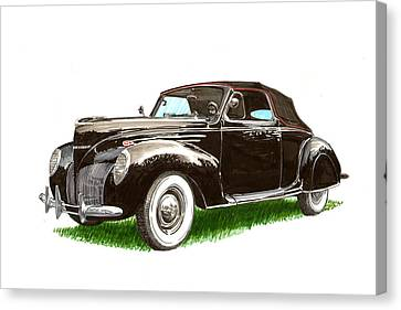 1937 Lincoln Zephyer Canvas Print by Jack Pumphrey