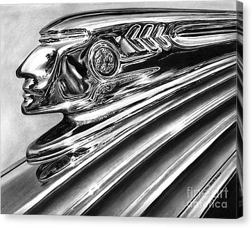1937 Pontiac Chieftain Abstract Canvas Print by Peter Piatt