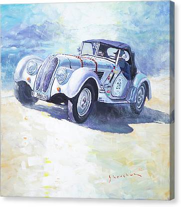 1938 Bmw 328 Roadster Caracciola Gp 2016 Winner Canvas Print by Yuriy Shevchuk