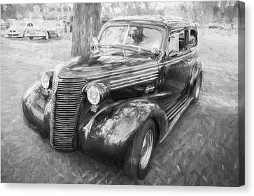 1938 Chevrolet 2 Door Sedan Deluxe C116 Bw Canvas Print