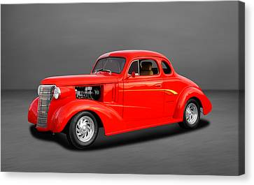 Chevy Coupe Canvas Print - 1938 Chevrolet Coupe - 5 Window by Frank J Benz