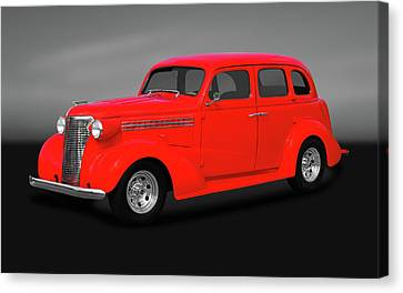 1938 Chevrolet Master Deluxe 4 Door Sedan   -   1938chevmastdelxesedgry170369 Canvas Print