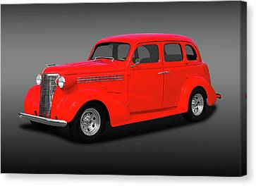 1938 Chevrolet Master Deluxe 4 Door Sedan   -   38chevmasterdeluxefa170369 Canvas Print