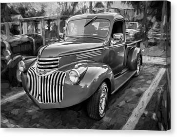 Pickup Truck Door Canvas Print - 1938 Chevrolet Pick Up Truck Painted Bw by Rich Franco