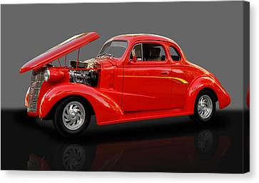 Chevy Coupe Canvas Print - 1938 Chevy 5 Window Coupe by Frank J Benz