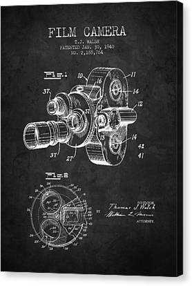 1938 Film Camera Patent - Charcoal - Nb Canvas Print by Aged Pixel