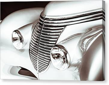1938 Hispano-suiza H6b Xenia Front Canvas Print by Wade Brooks