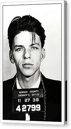 Old Blue Eyes Canvas Print - 1938 Young Frank Sinatra Mugshot by Daniel Hagerman