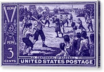 1939 Baseball Centennial Canvas Print