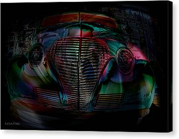 1939 Chevy In A Biubble Car Abstract Canvas Print