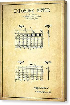 1939 Exposure Meter Patent - Vintage Canvas Print
