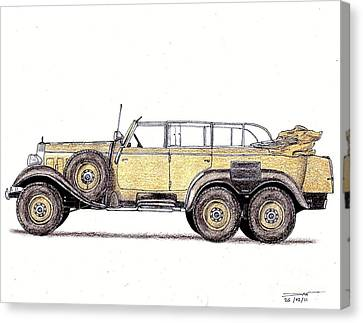 1939 Mercedes-benz W31 G4 Canvas Print