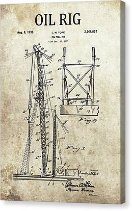1939 Oil Rig Patent Canvas Print