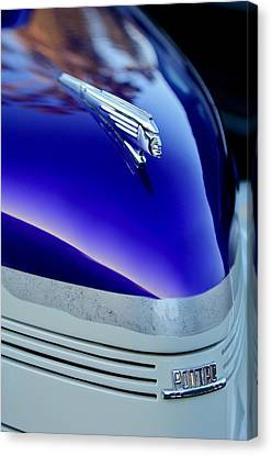 1939 Pontiac Coupe Hood Ornament 3 Canvas Print by Jill Reger