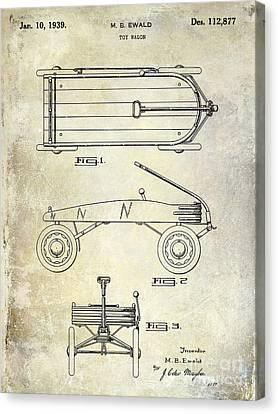 1939 Toy Wagon Patent  Canvas Print by Jon Neidert
