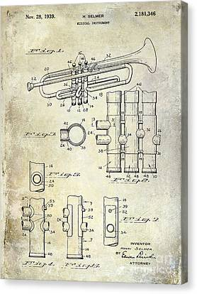 1939 Trumpet Patent Canvas Print