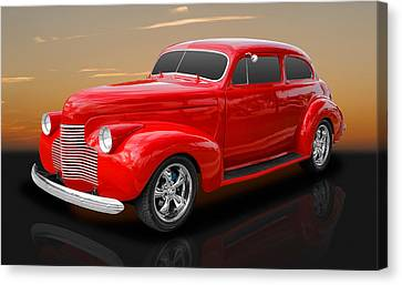 1940 Chevrolet Special Deluxe Sedan Canvas Print